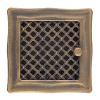 Каминная вентиляционная решетка Deco с жалюзи, золотая патина