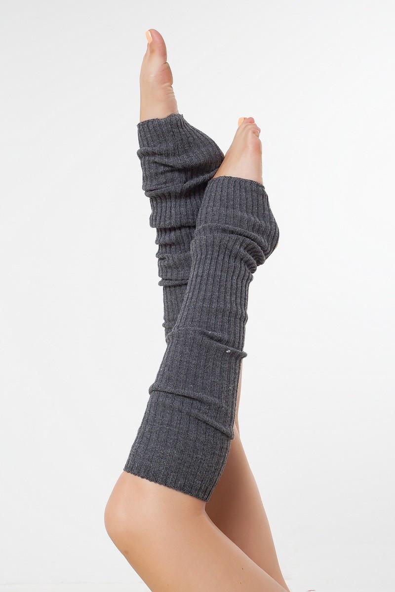 Вязаные гетры для гимнастики и танцев Серый