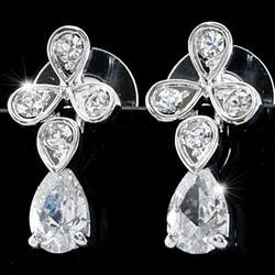 Серьги Dangle 2 Carat Cubic Zirconia CZ Earrings SE282