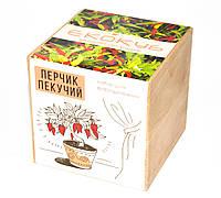 Набор для выращивания Экокуб Жгучий красный перец, комнатные растения