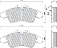 Колодки дисковые передние Sprinter 95>06/LT2 2-3t/Vito-638 96>97 (ATE) FOMAR ROULUNDS BRAKING