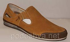 Летние мужские туфли из натуральной кожи KADAR 4022 размеры 38-45