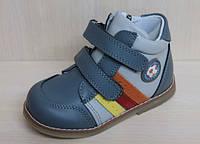 Кожаные ортопедические ботинки для мальчика на липучках тм Том.м р.18