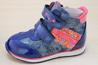 Демисезонные кожаные ботинки для девочки тм BiKi р.21,22,23,24,25,26, фото 2