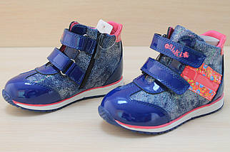 Демисезонные кожаные ботинки для девочки тм BiKi р.21,23,24,25, фото 3