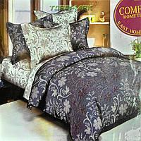 """Евро комплект постельного белья Lux Comfort - прост.220 х 230, - под. 200 х 220 """"Цветы на клетке"""""""