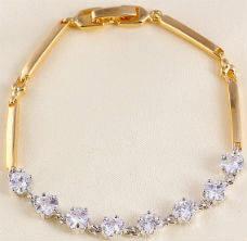 Позолоченный браслет с цирконами (GF317)