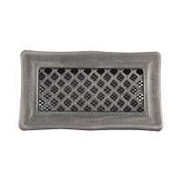 Каминная вентиляционная решетка Deco, серебряная патина