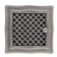 Каминная вентиляционная решетка Deco с жалюзи, серебряная патина