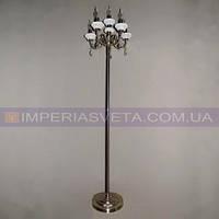 Торшер напольный в классическом стиле с абажуром шестиламповый KODE:541023
