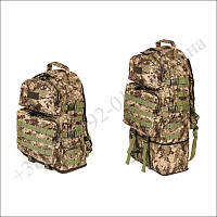 Тактический рюкзак 40 - 60 литров трансформер пиксель для военных, туристов, рыбалки нейлон