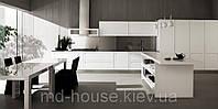 Кухня белая аллюминий Тревизо