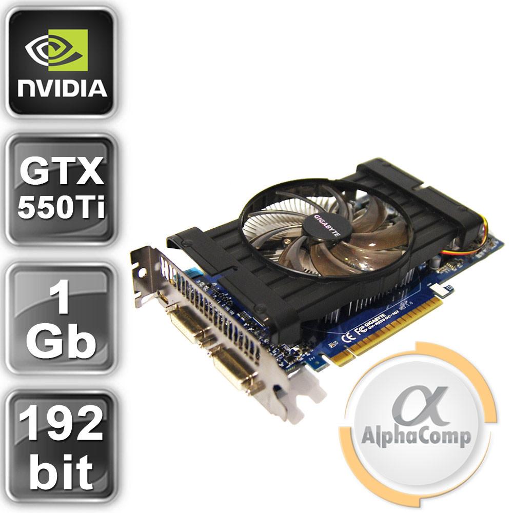 Видеокарта PCI-E NVIDIA Gigabyte GTX550Ti (1Gb/GDDR5/192bit/2xDVI/miniHDMI) БУ
