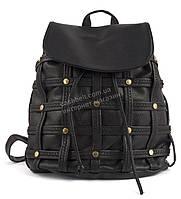 Стильная женская сумка-рюкзак черного цвета  art.1972-8 черная