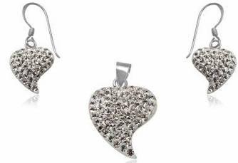 Набор TN1402. Серебро 925. Swarovski Crystals