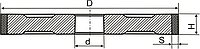 Алмазный шлиф.круг (ПП) формы-1А1 D-16мм*H-6мм*S-2мм АС4 125/100 В2-01 100%