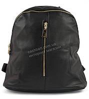 Стильная женская сумка-рюкзак черного цвета  art. 8103 черная/золото молния
