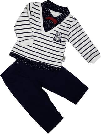 Нарядный костюм с бабочкой для мальчика ТМ Baby Pearly (рубашка, джинсы) размер 68 74, фото 2