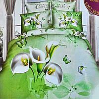 """Полуторный комплект постельного белья Lux Comfort - прост.160 х 220, - под. 150 х 210 """"Калла"""""""