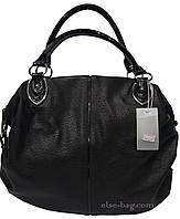 Мягкая черная женская сумка, фото 1