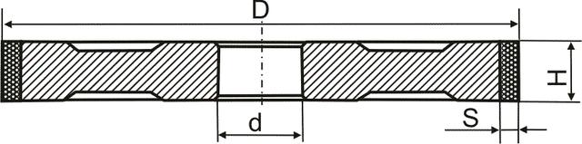 Алмазные круги Прямого профиля (АПП) формы 1А1