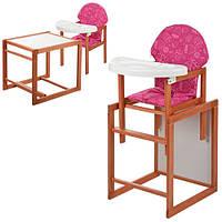 Детский стульчик для кормления Vivast (М V-013-6) МАЛИНОВЫЙ