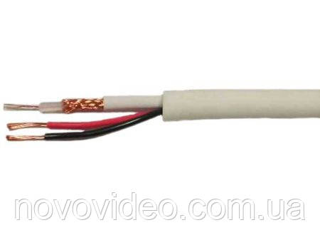 Комбинированный кабель КВК В2+2*0,75 для видеонаблюдения внутренний