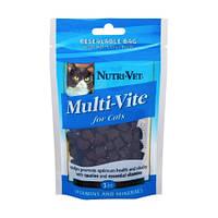 Витамины Nutri-Vet MULTI-VITE для кошек с таурином и биотином 70 г