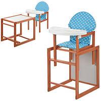 Детский стульчик для кормления Vivast (М V-013-2) ГОЛУБОЙ