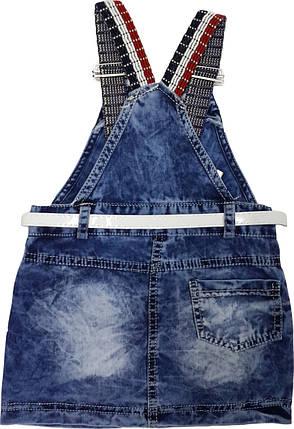 Детский сарафан джинсовый Mini maus голубой размер 92 , фото 2