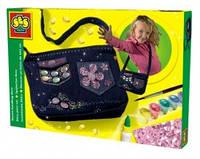 Набор для изготовления сумочки - МОДНЫЙ ТРЕНД (сумочка, украшения, кисточка, краски, клей) от Ses - под заказ