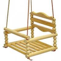 Качеля подвесная, деревянная (бук)