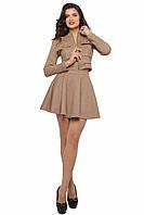 Стильный бежевый женский костюм SO-13178-BEG ТМ Alpama  42-48 размеры
