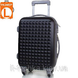 Большой дорожный чемодан gravitt ds200l-2 черный на четырех колесах