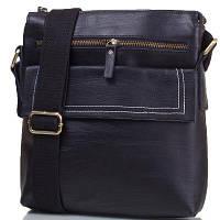 Мужская кожаная сумка-планшет через плечо eterno tu5335-black черная