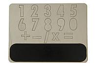 """Пазл-планшет из дерева с меловой доской """"Цифры"""", деревянные цифры."""