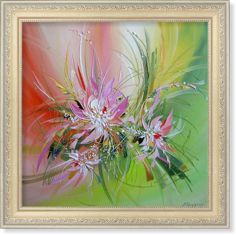 Репродукція сучасної картини «Квіткова фантазія VIII» 30 х 30 см