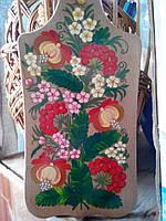Доска разделочная декоративная . маленькая ( 30,5х14 см)