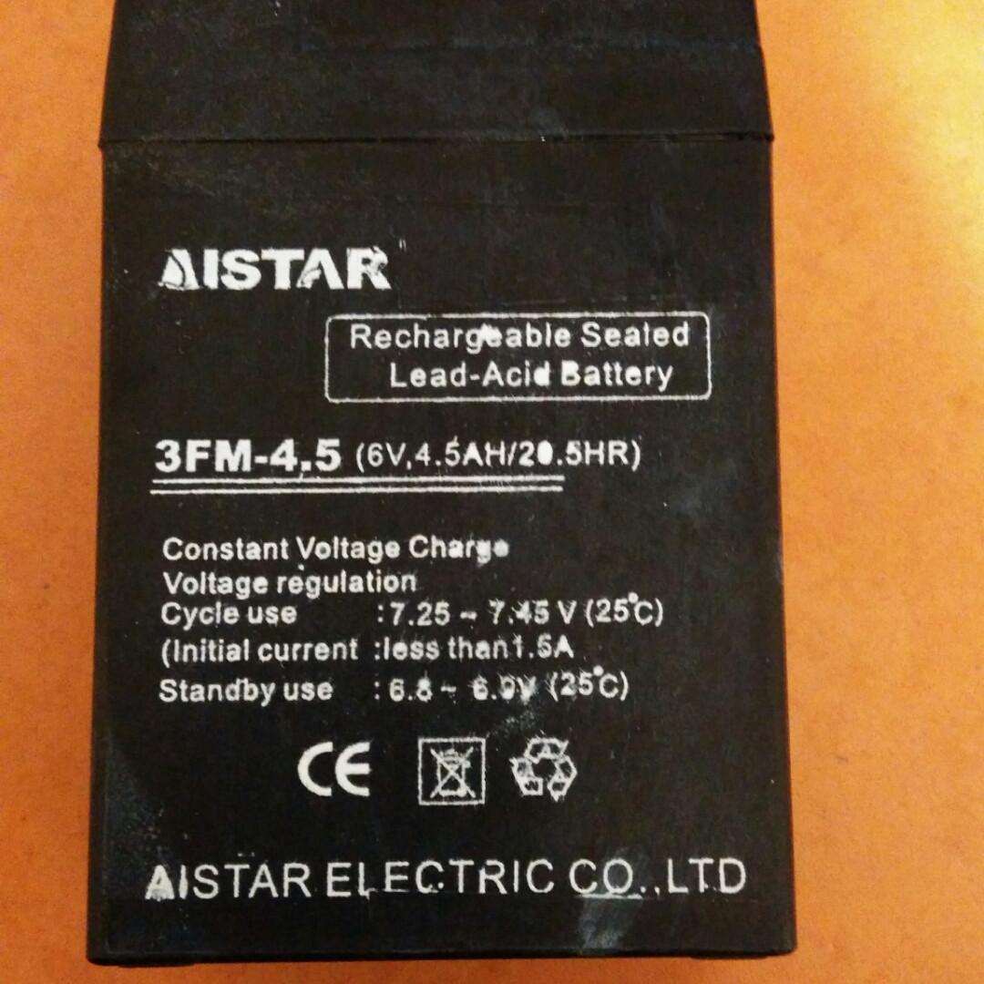 Аккумулятор i-star для детских электромобилей 6V / 4,5Ah