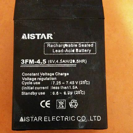 Аккумулятор i-star для детских электромобилей 6V / 4,5Ah, фото 2