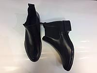 Ботинки челси из натуральной кожи черного цвета