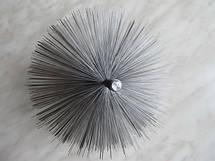 Щетка для чистки дымохода ф150 стальная под резьбу, фото 3