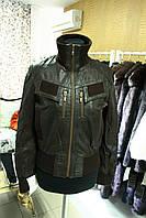 Куртка с резинками, натуральная кожа