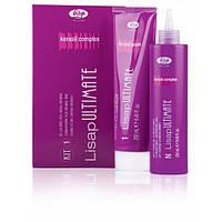 Набор перманентного выпрямления Lisap Ultimate Kit 1 для натуральных или жёстких волос 250 мл + 250 мл