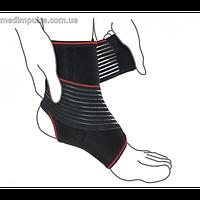 Бандаж на голеностопный сустав с дополнительной фиксацией ReMed R7202 чёрный, серый
