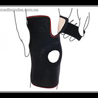 Бандаж на коленный сустав со спиральными ребрами жесткости (арт. R6202) чёрный, серый