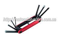 Набор инструмента (шестигранники 2/ 3/ 4/ 5/ 6 мм +2 отвертки)   BDRK