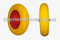Колесо   4,00 -8   TL   (бескамерное, ось D-12мм )   (желтое)   ELIT