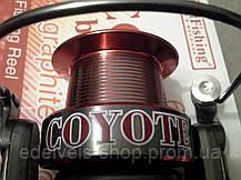 Котушка з байтранером BratFishing Coyote Baitrunner 50OORD (6+1), фото 2