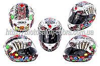 Шлем-интеграл   (mod:Fireworks) (size:ХL, белый +солнцезащитные очки, DICE)   CIRUS